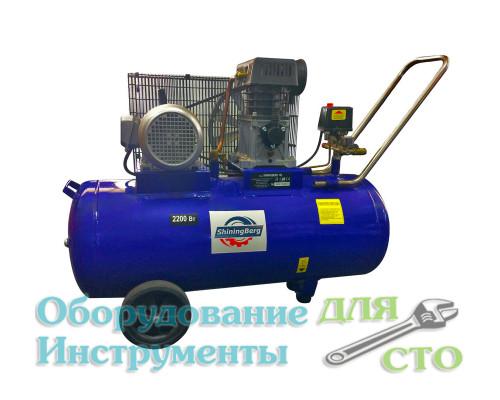Компрессор поршневой ShiningBerg 100 литров (335 л/мин) 380 вольт