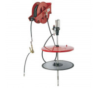 Нагнетатель консистентной смазки под тару 180 кг. с катушкой (пневматический) Flexbimec 004995