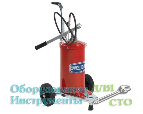Нагнетатель консистентной смазки 16 кг. (ручной привод) Flexbimec 005115